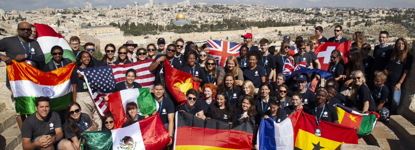 Young adults from many nations